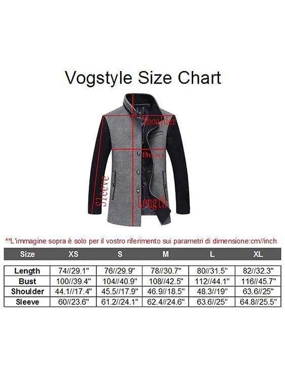 Vogstyle Manteau Homme Laine Hiver Chaud Court Trench-Coat éléGant Blouson  Parka Veste Automne Hiver  Amazon.fr  Vêtements et accessoires a6055a4b7f47