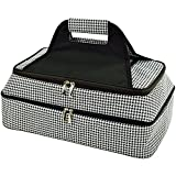 Picnic at Ascot - Two Layer - Hot/Cold Thermal Food and Casserole Carrier - Black