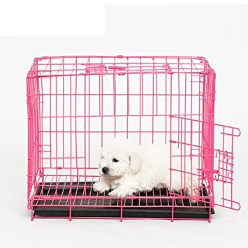 SL&ZX Plegable Metal Perro Cajón,Peque?as Cajas de Perro Perros audaz Perro Jaula