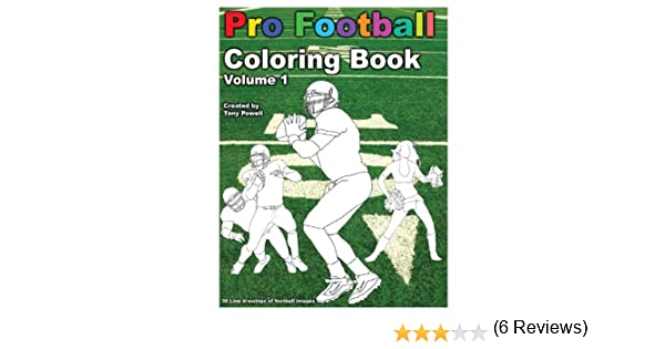Pro Football Coloring Book: Tony Powell: 9781622491278: Amazon.com ...