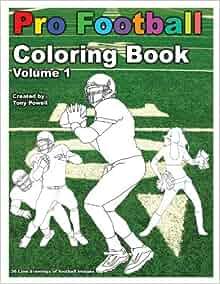 Pro Football Coloring Book: Tony Powell: 9781622491278: Amazon.com ...