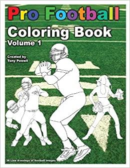 pro football coloring book tony powell 9781622491278 amazoncom books - Football Coloring Book