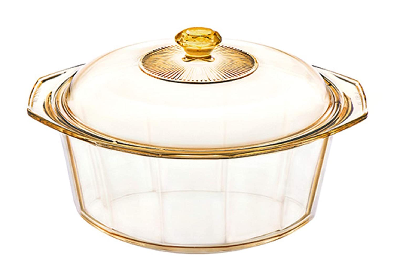 Visions Diamond 4.1L Glass Ceramics Dutch Oven Stock Pot with Lid