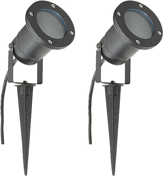 5 X GU10 OUTDOOR GARDEN SPIKE//WALL LIGHT