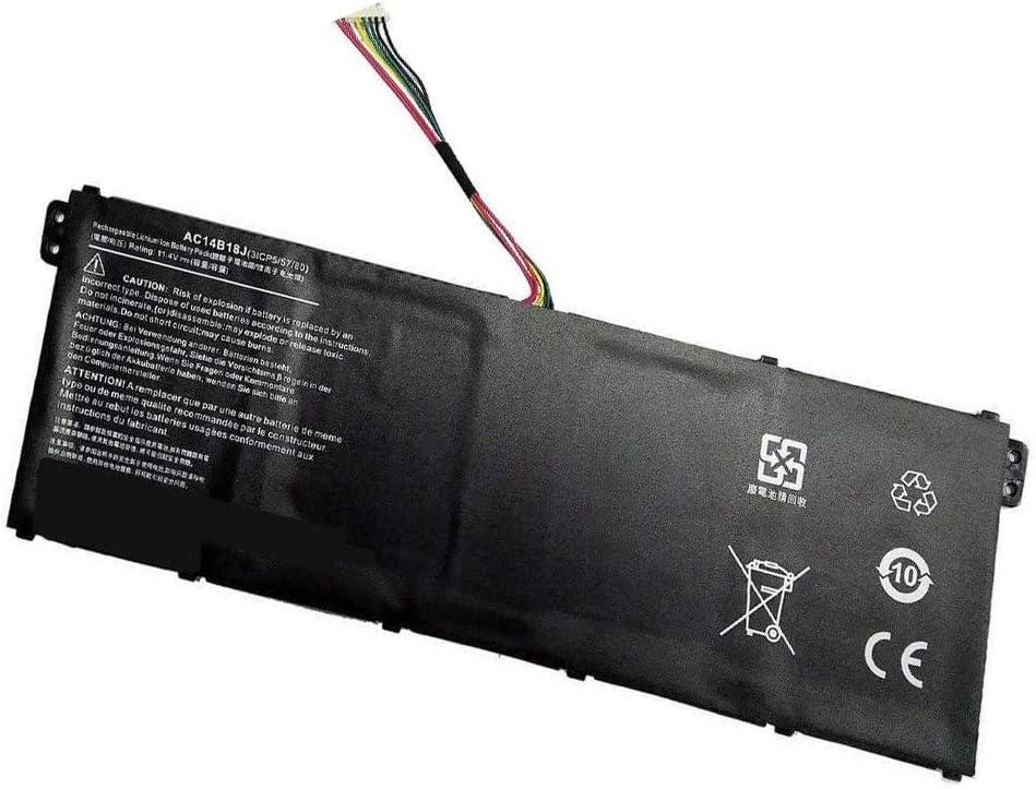 Tesurty Replacement Battery AC14B18J 3ICP5/57/80 for Acer Chromebook 11 CB3-111 Aspire ES1-512 ES1-431 ES1-511 ES1-521 ES1-531 ES1-572 ES1-711 AC14B18J 3ICP5/57/80
