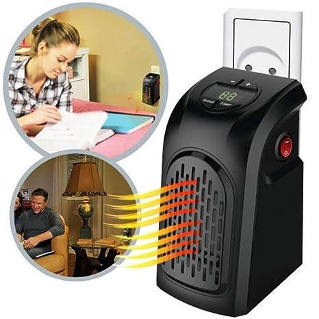 TrAdE shop Traesio Estufa Eléctrica Portátil Handy Heater a bajo Consumo 350 W Grados Ajustables