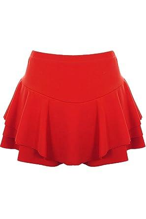 ZAFIRO Boutique Mujer Pantalones cortos cintura alta Volante Falda ...