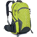 ZCL Waterproof Hiking Day Backpack with Waist Strap and Chest Clip, Roomy Camping Trekking Mountaineering Backpacking Travel Back Pack
