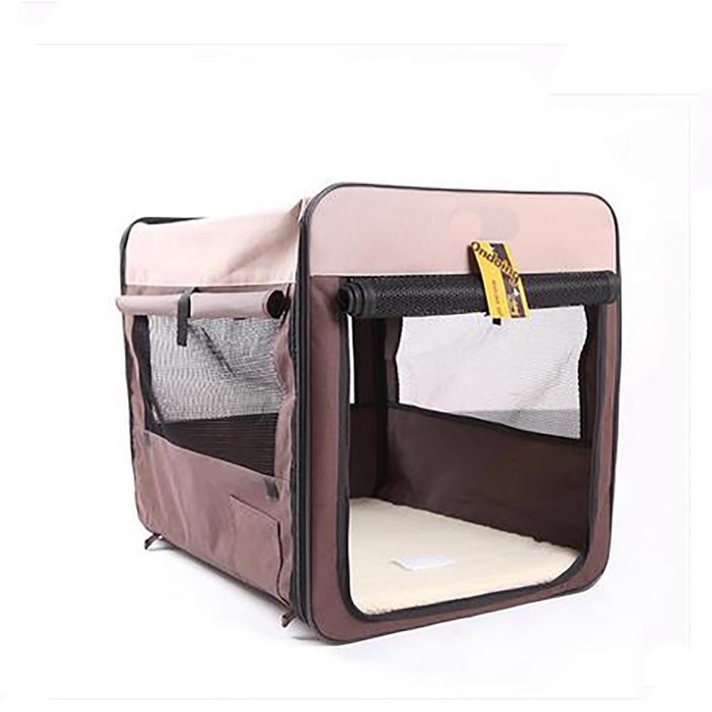 Coffee color Large coffee color Large LAMEI Portable Soft Sided Pet Carriers