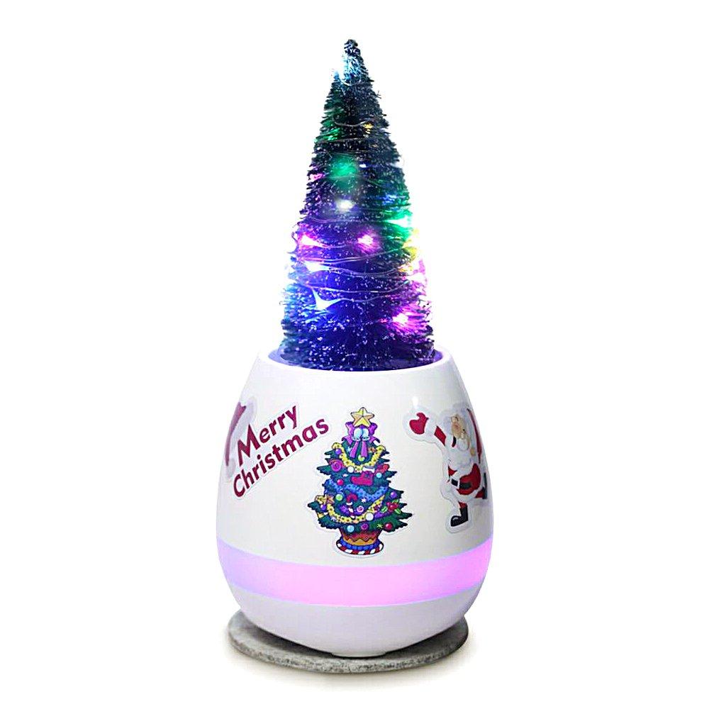 【全品送料無料】 クリスマスツリーテーブルトップ音楽ボックスマルチカラーライト装飾DIYステッカークリスマスのギフトホーム寝室パティオガーデンヤードパーティウェディングKids Toys Presents Presents S S ホワイト BAJ-MP-008 BAJ-MP-008 B07799DKBT S, ファッション燕:55344b32 --- arcego.dominiotemporario.com