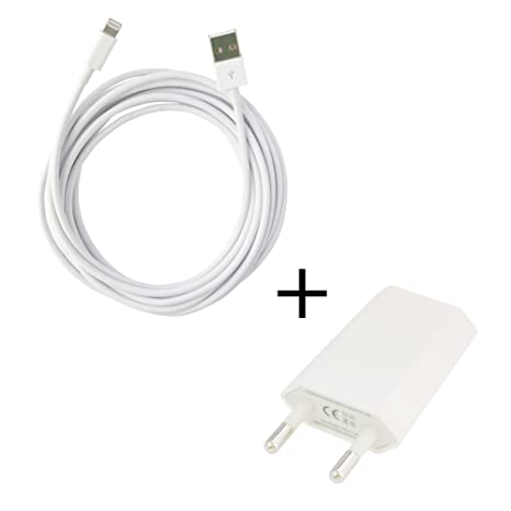0,2 m Cable cargador y cable de datos USB para iPhone 6 ...