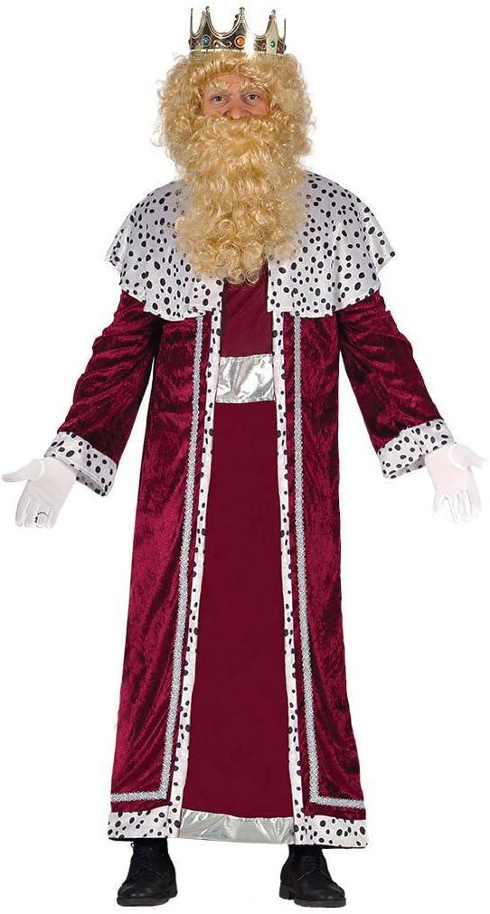 Guirca- Disfraz Rey Mago Gaspar Adulto, Color rojo, talla L ...