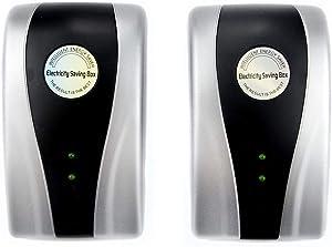 2Pcs Power Saver,Energy Saver,Saver Electricity Saving Box 90V-250V 30KW Energy Saver Saving Device for Household Office Market Factory US Plug