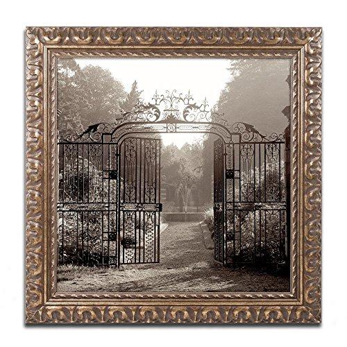 Hampton Gates III by Alan Blaustein, Gold Ornate Frame (Hampton Gate)