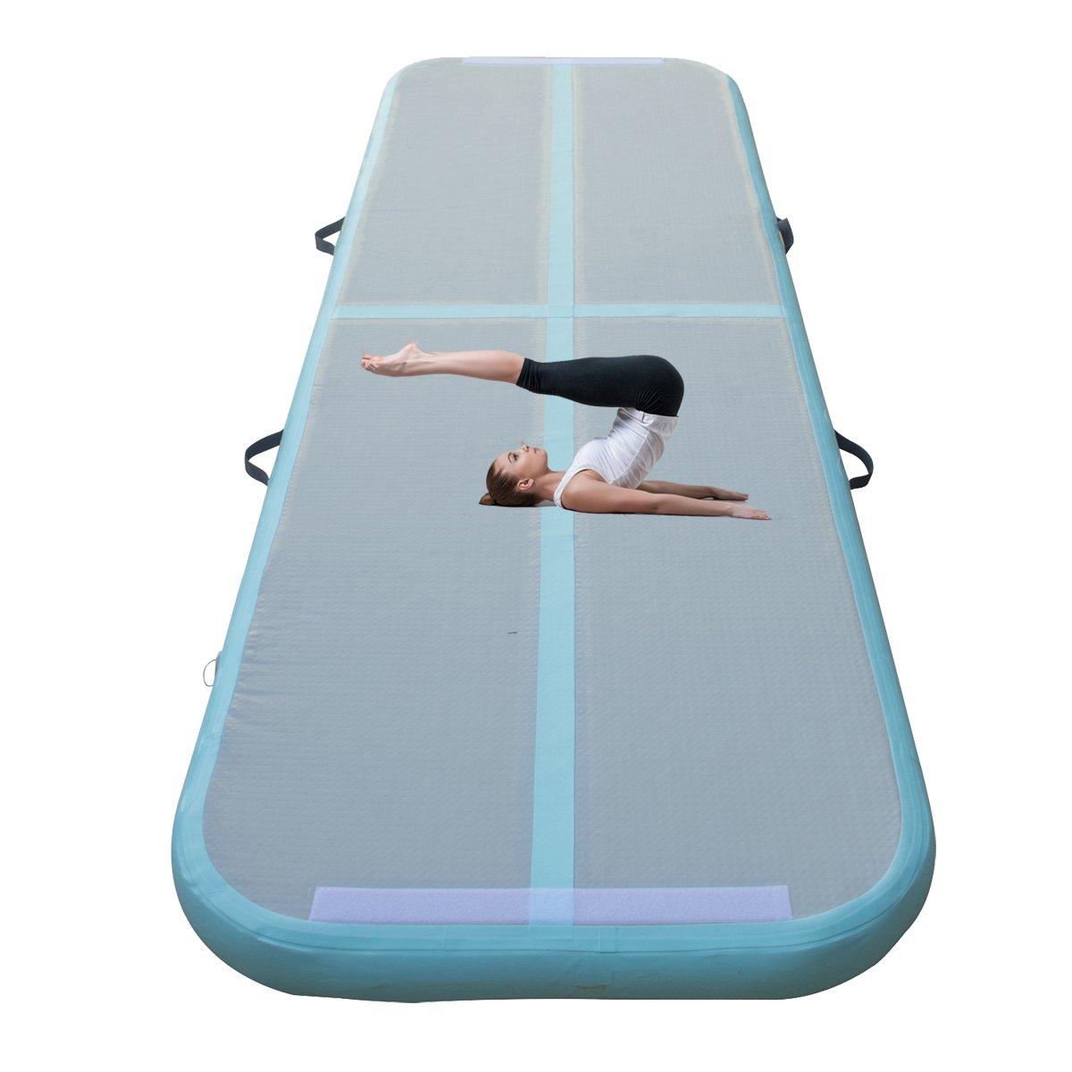 エアトラック床のタンブルマット、インフレータブル体操トレーニングマット、ホーム使用チアリーディング水ビーチ公園テコンドーSchoolsチアリーディングヨガダンスクラブ裏庭Grass Land 3 x 0.9 X 0.1 m B078SQCJNF Only Gymnastic Mat 3 x 0.9 x 0.1m(9.84 x 2.95 x 0.33ft)