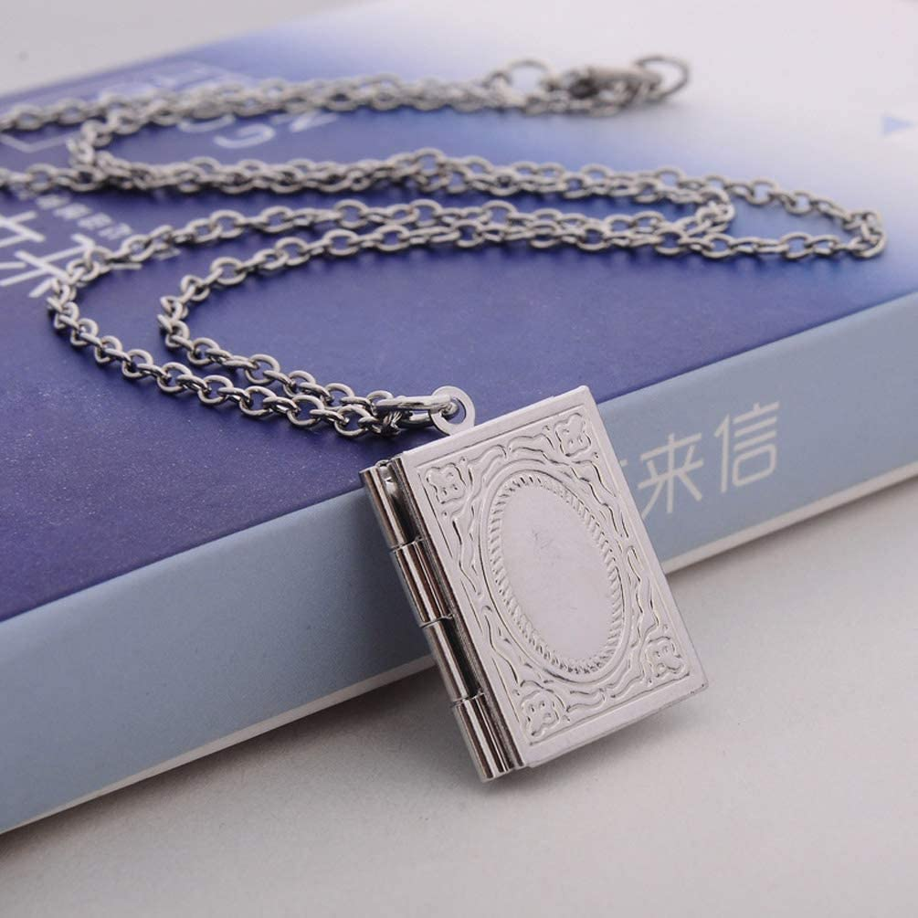 Gostear Photo Locket Necklace That Holds Pictures Vintage Pendant for Little Girls Kids Baby Mom
