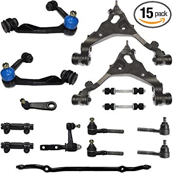 Amazon Com Detroit Axle 4wd Front Upper Lower Control Arms Sway Bars Tie Rods Idler Arm 3 43 Bolt Pitman Arm Center Link Sleeves Kit Replacement For Expedition F150 Heritage Navigator Automotive