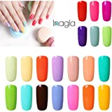 Inagla 20PCS Nail Gel Soak Off UV LED Macarons Colors Series Gel Nail Polish Set 15ML