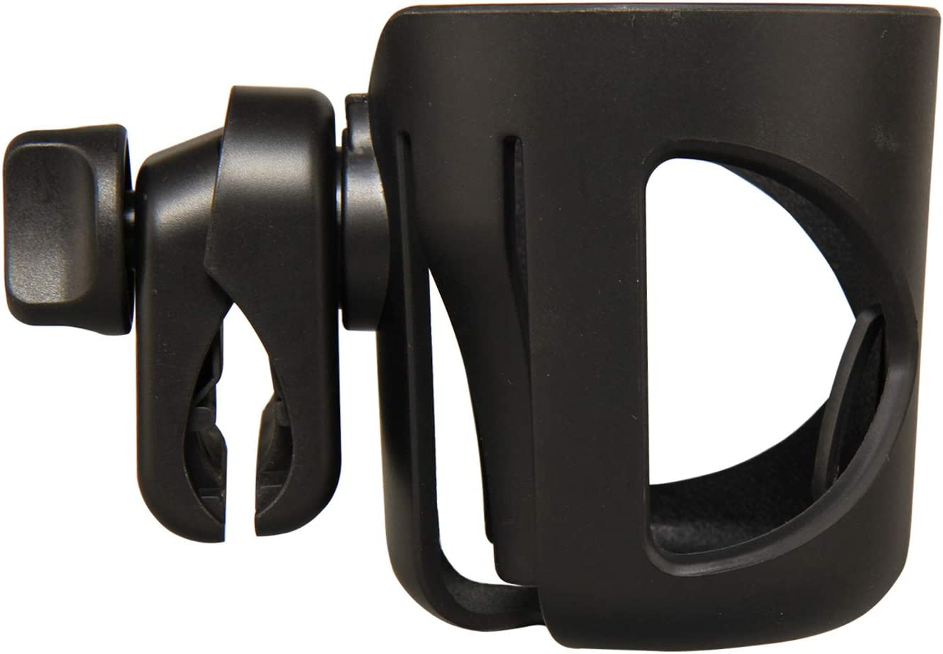 Portavasos, Fushop portavasos para cochecito, silla de ruedas, silla de oficina, vespa, jaula de la botella de agua(NEGRO)