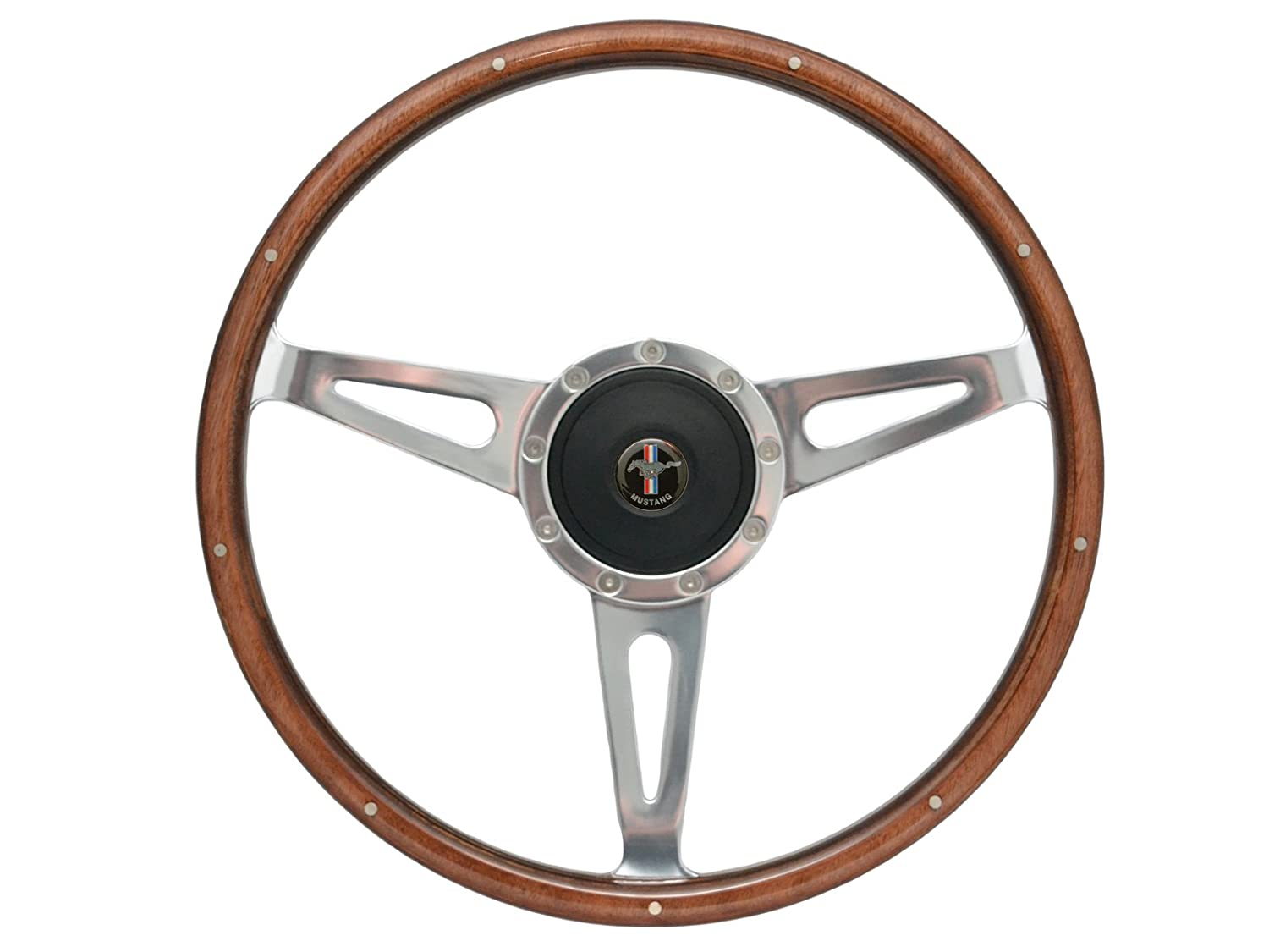 Amazon com 1967 1968 1969 1970 1971 1972 1973 ford mustang shelby style steering wheel hub adapter and horn button with ford mustang emblem automotive