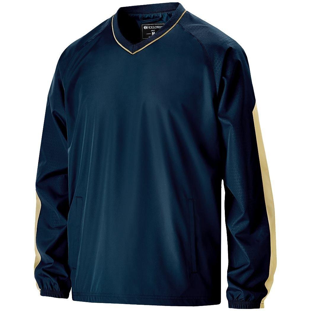Men 's Bionic Windshirt Hollowayスポーツウェア B012KBL5X2 Large|Navy/ Vegas Gold Navy/ Vegas Gold Large