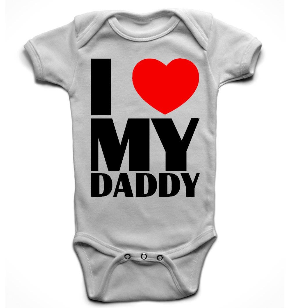 Shopagift Baby I Love My Papa Lots and Lots Sleepsuit Romper White