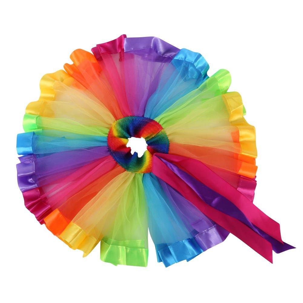 Jlong Baby Girl Rainbow Tutu Pettiskirt Party Gym Ballet Leotard Dress Dancewear JL-ZQP00354S