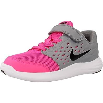 pretty nice ba92f ea5e9 Nike Lunarstelos (PSV), Chaussures de Course Fille, Rose/Noir/Blanc