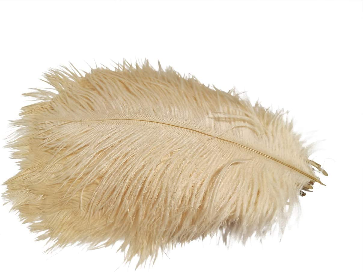 Lampu Ostrich Feathers 6-8inch Yellow Ostrich Feathers Plume for Wedding Centerpieces Home Vase Decoration per Pack of 10