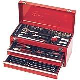Jogo Ferramentas JJ-MT90, JJTools, caixa metal de 3 seções, 90 peças, uso profissional
