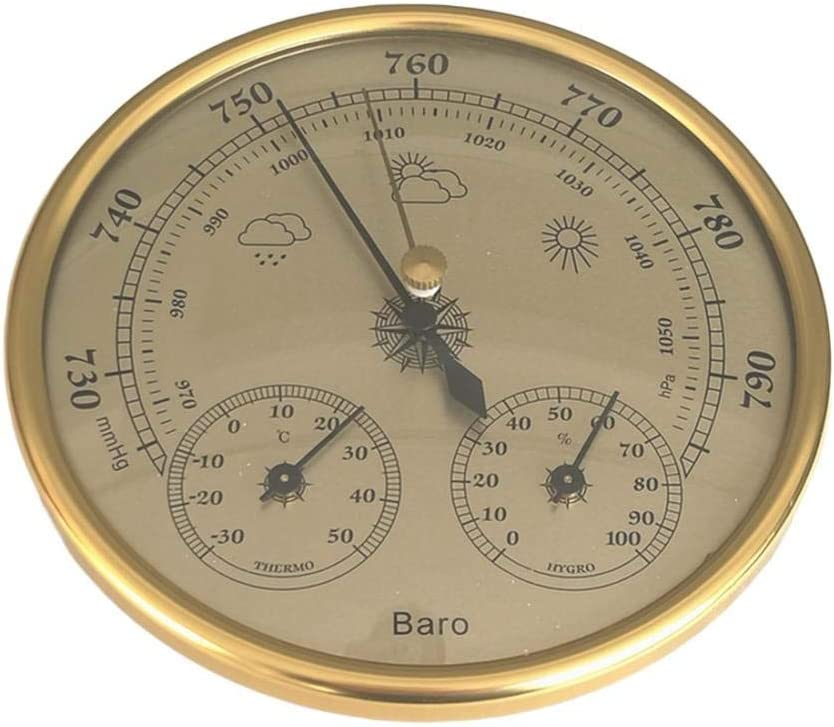 Wall Mounted Barometer Thermometer Hygrometer Weather Station Hanging Household