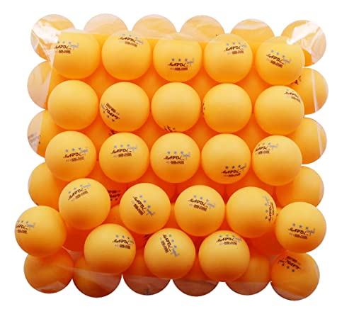 MAPOL 50- Pack Orange 3-Star Premium Ping Pong Balls Advanced Training Table Tennis Ball