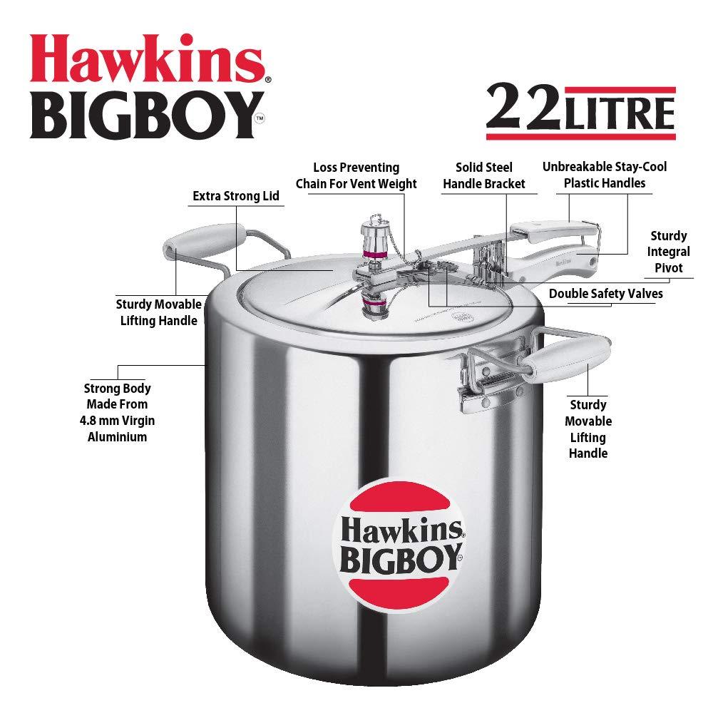 9523ef68a Hawkins BigBoy 18L Pressure Cooker (E30) (HWSE20SIR Silver): Amazon.ae