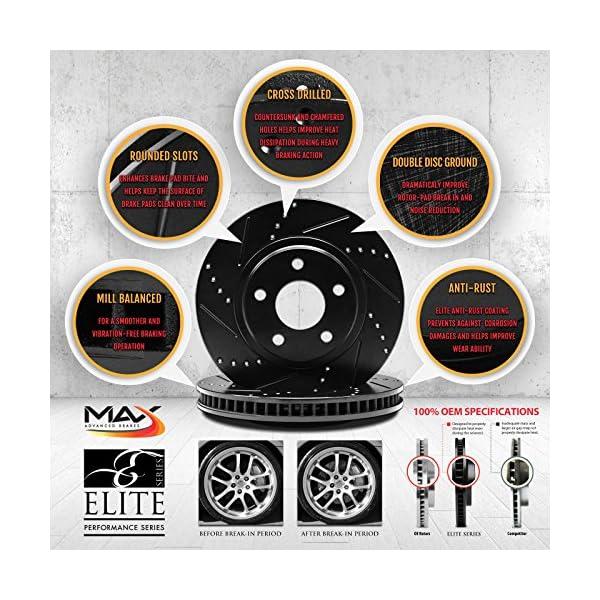 KT051081-2 Max Brakes Front Elite E-Coated XDS Rotors and Ceramic Pads Brake Kit
