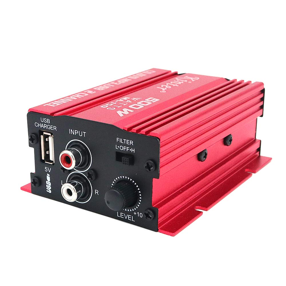 DollaTek kinter ma150 12v mini 2ch hifi stereo car power amplifier mp3 altavoz de audio con usb