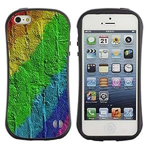 "Pulsar iFace Series Tpu silicona Carcasa Funda Case para Apple iPhone 5 / iPhone 5S , Pared de ladrillo Patrón Gay"""