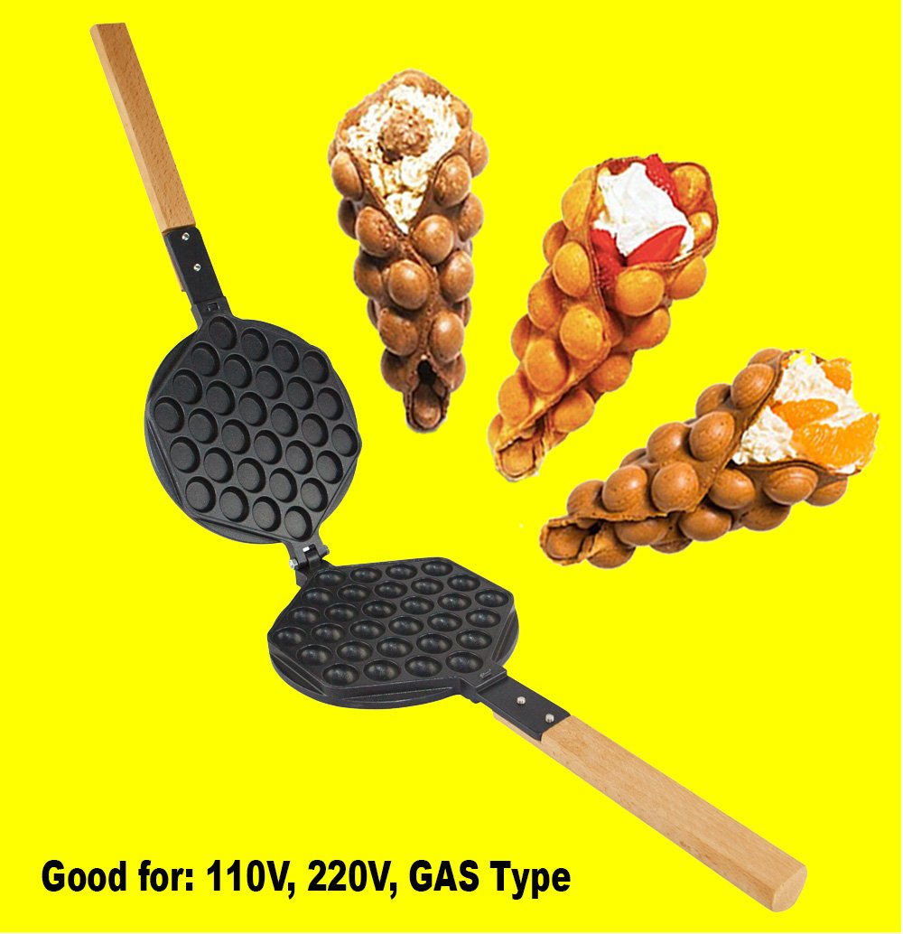 Puffle Waffle Maker Professional Rotated Nonstick ALD Kitchen (Grill/Oven for Cooking Puff, Hong Kong Style, Egg, QQ, Muffin, Cake Eggettes and Belgian Bubble Waffles) (MOLD)