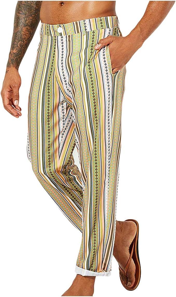 Mibuy Pantalones De Hombre, 2020 Verano para Playa Moda Jogger ...