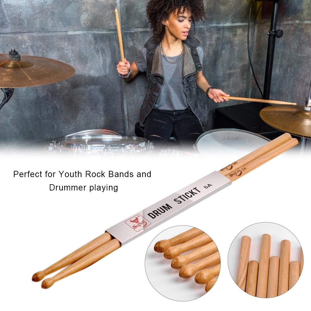 Shantan 7A 5A Drumsticks,Wooden Tip Maple Drum Sticks for Acoustic or Electronic Drums