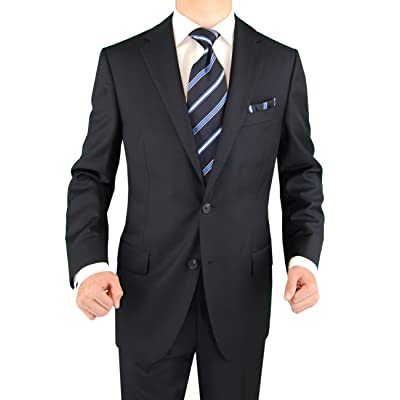 2 Button Mens Suit Nano Luxury Technology Vantage Wool Technical Stretch Navy