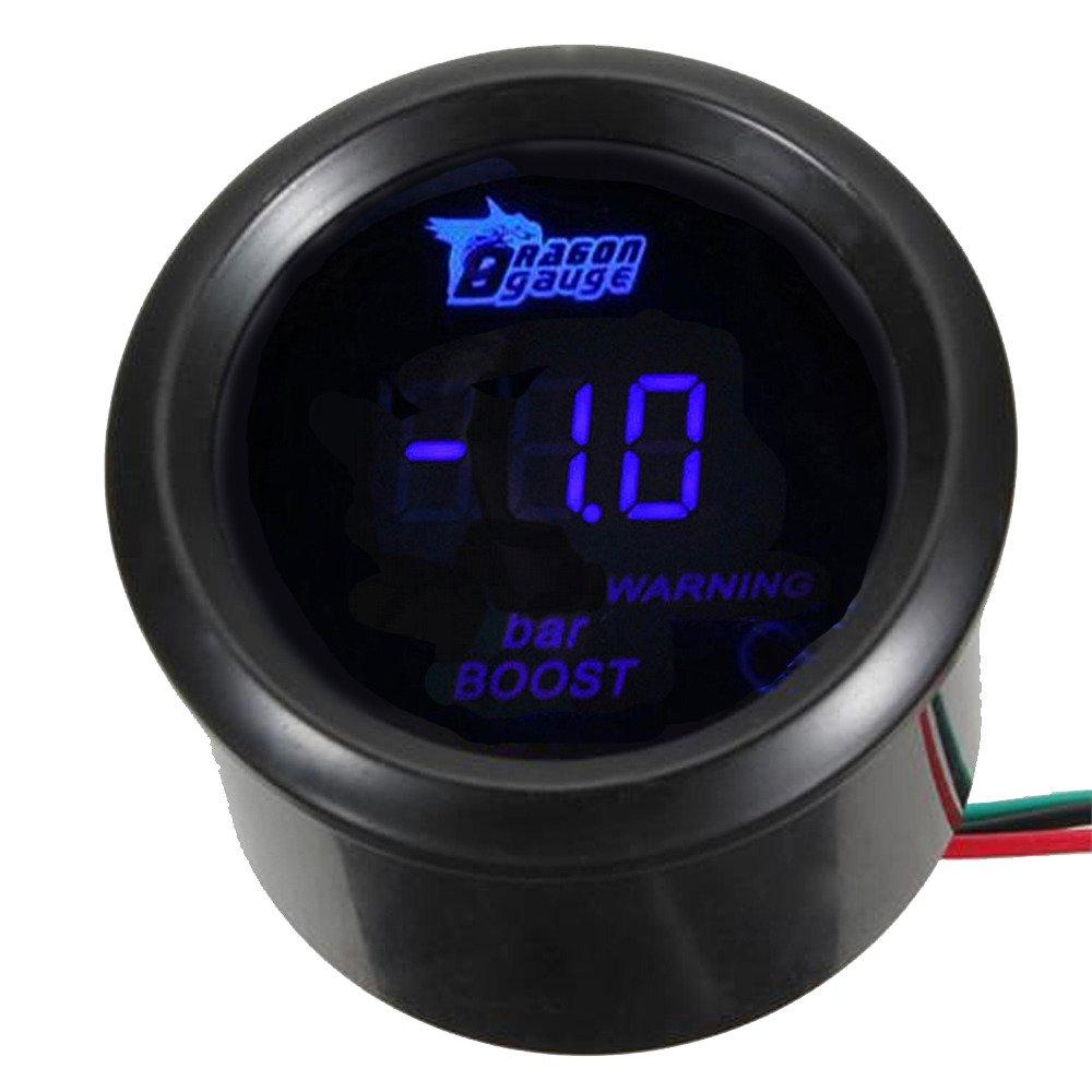 Supmico 52mm Universal KFZ Digital Blau LED Licht Anzeige /Öldruck Anzeige Auto Instrument Messger/ät