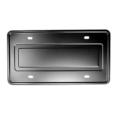 LFPartS Stainless Steel License Plate Durable Car Tag Holder Backing Reinforce Bracket (Black): Automotive