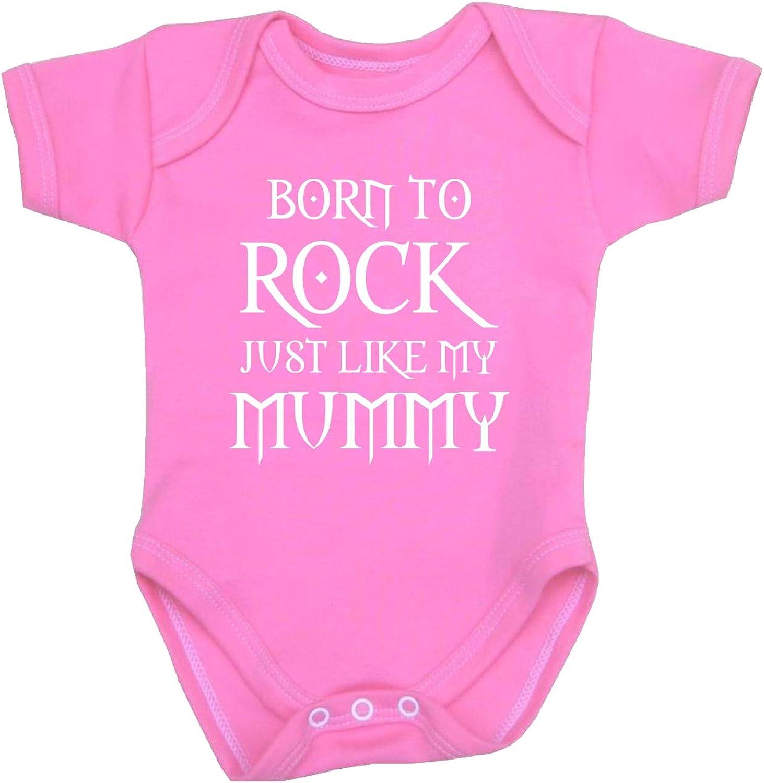 12mth Mummy Rocks Bodysuit Vest Baby Clothes Fun Slogan Girls Boys Mum Gift NB