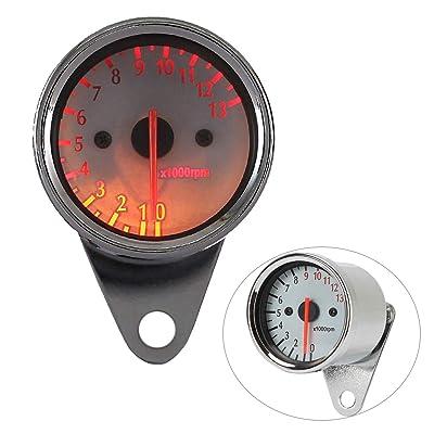 INNOGLOW Motorcycle Tachometer Led Digital Speedometer Odometer Dual Backlit 0~13000RPM Headlight Indicator: Automotive