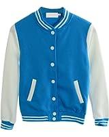 Mojessy Women's Slim Fit Baseball Varsity Bomber Jacket Coat Outwear