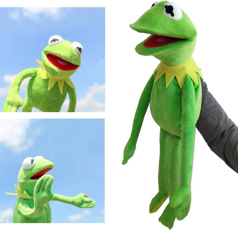ZYBB Kermit Frog Puppets Plush Toy -Sesame Street The Muppet Show Doll Kermit The Frog Hand Puppets Peluches Juguetes De Navidad Niños 60CM /Verde