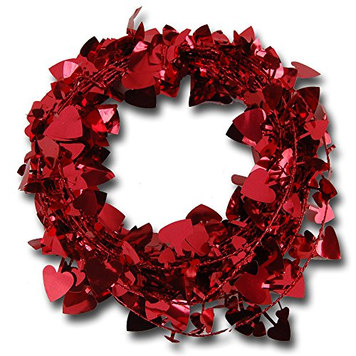 Festive Wire Garland with Cutout Shapes - 25ft - Choose Color and Shape