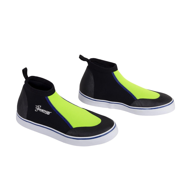 Seavenger Atlantis Aqua Shoes | Slip On Dive Booties for Snorkeling, Scuba Diving, Kayaking and Surfing (Green, 4) by Seavenger