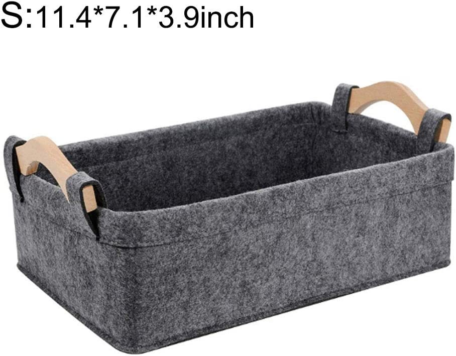 Felt Stotage Basket Collapsible Storage Box Foldable Storage Cube Fabric Storage Bins Home Organizer Containers Laundry Organizing for Nursery Toys Magazine Clothes Bedroom Office Towels