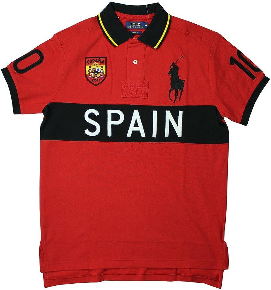 Ralph Lauren Hombres Polo España Rojo (M): Amazon.es: Ropa y accesorios